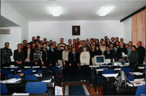 The first generation of students 2001/02 - postgraduate Studies E-business
